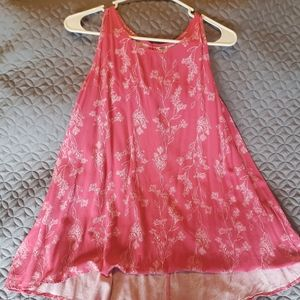 Old Navy Coral/Pink Floral high/low tank top